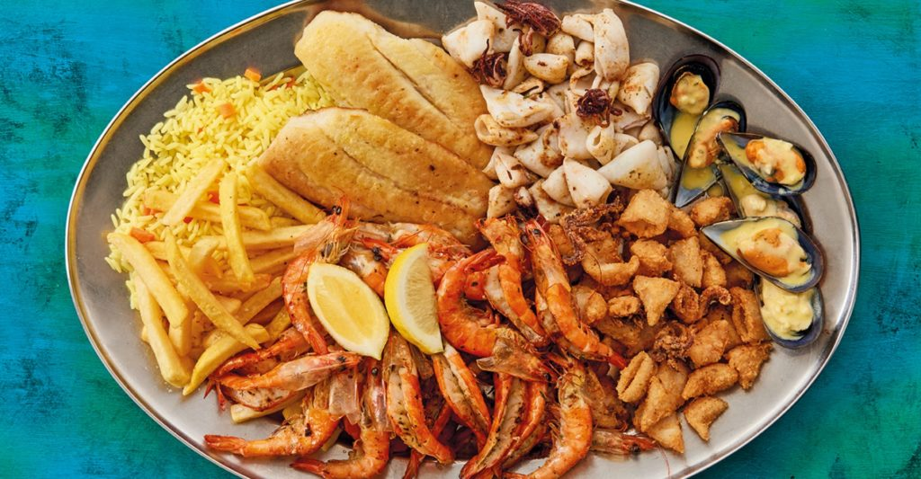Ocean Basket, Gold Reef City. Seafood, Fish And Chips.