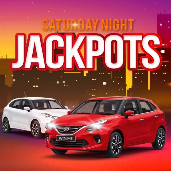 Saturday Night Jackpot gaming promotion slider image